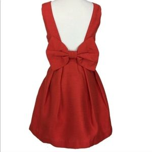 Dresses & Skirts - Red Backless Fit and Flare Dress with Bow Back